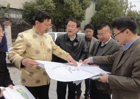 国学智慧应用专家巨天中先生应邀上海环境选址之行